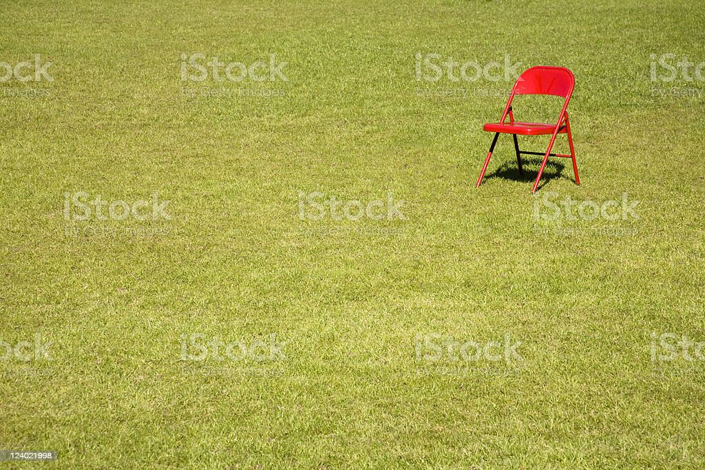Empty Red Chair royalty-free stock photo
