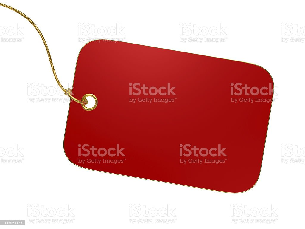 Empty red label royalty-free stock photo