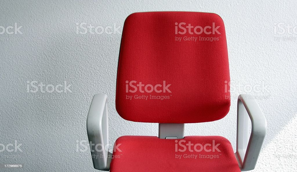 empty red office chair close up royalty-free stock photo