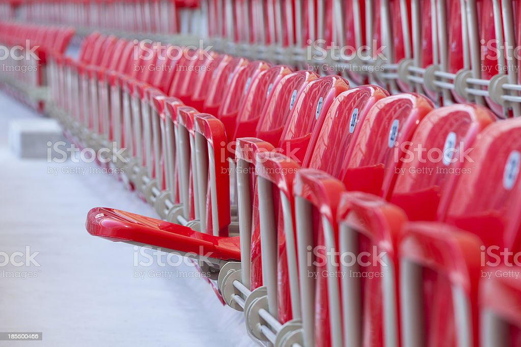 empty red one seat royalty-free stock photo