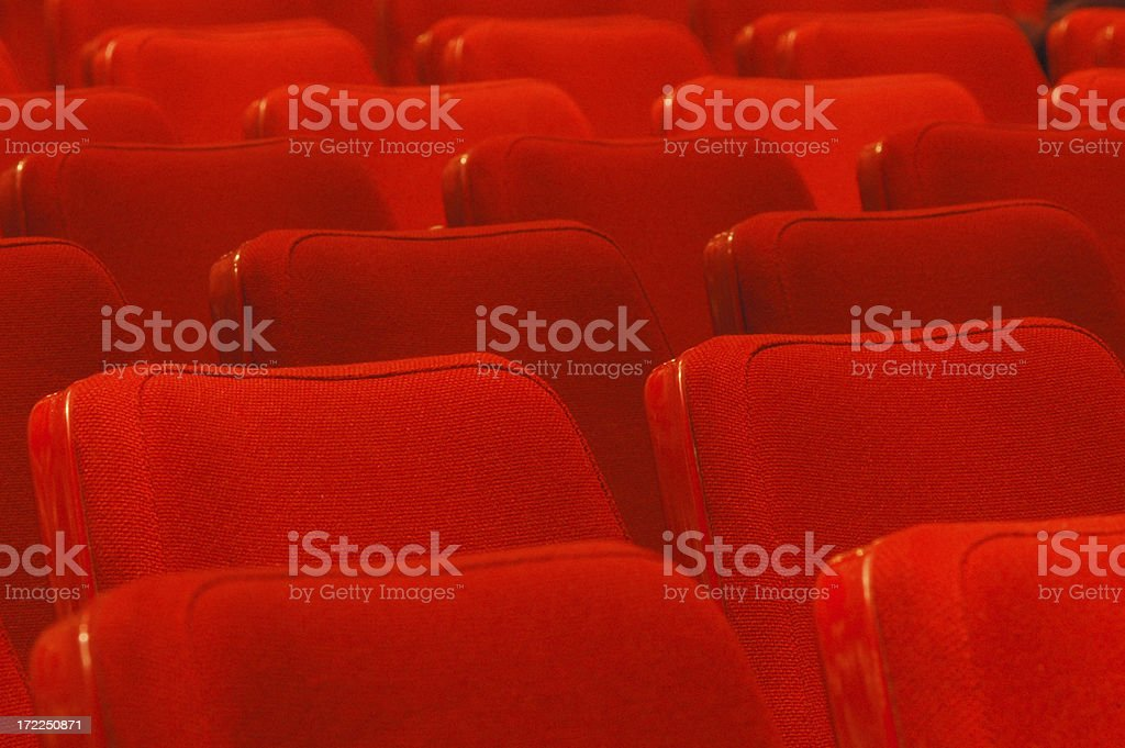 Empty red seats royalty-free stock photo