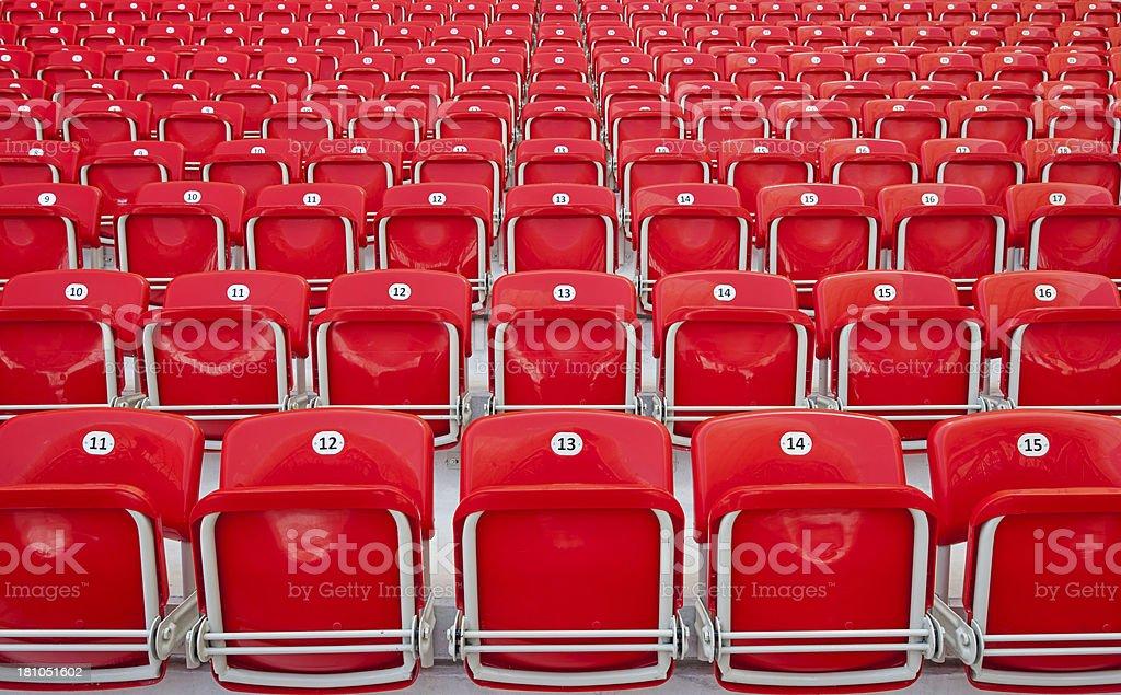 empty red stadium seats royalty-free stock photo