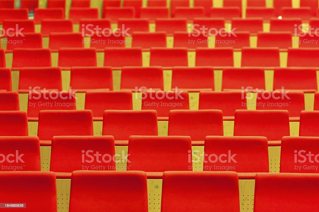 Empty Red Theater Seats royalty-free stock photo