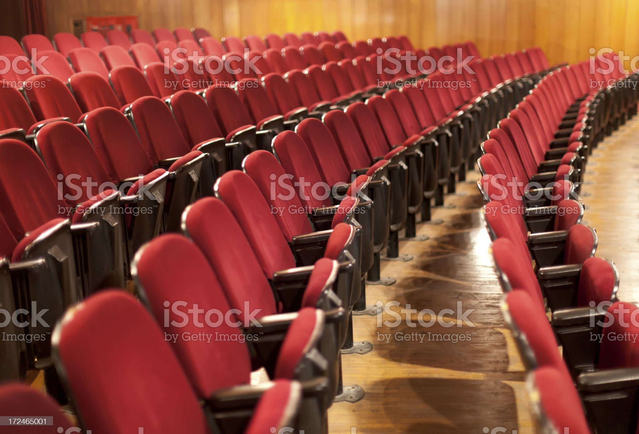 Empty Red Theater Stages royalty-free stock photo
