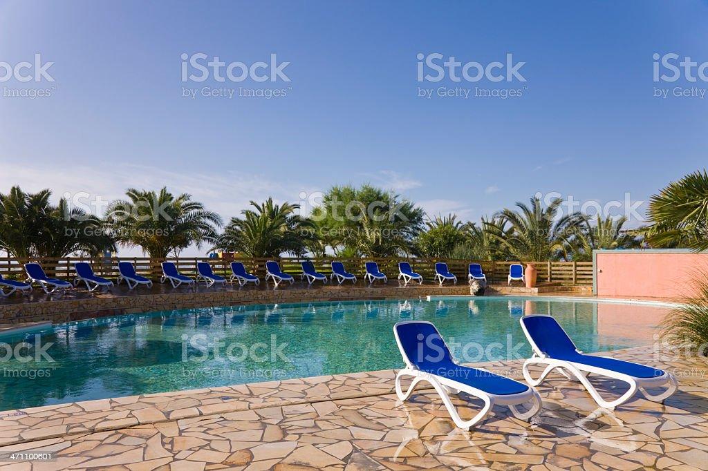 Empty Resort Pool royalty-free stock photo