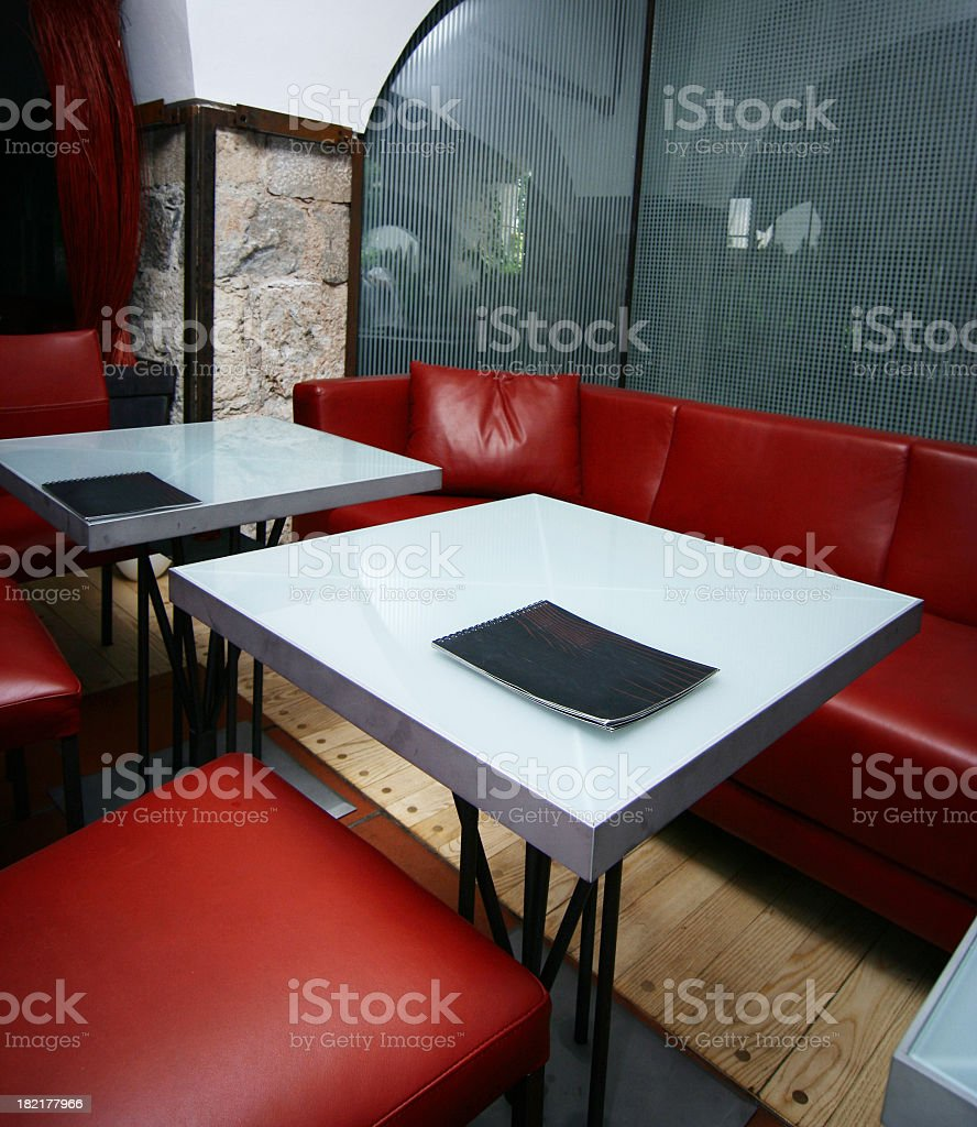 Empty restaurant royalty-free stock photo