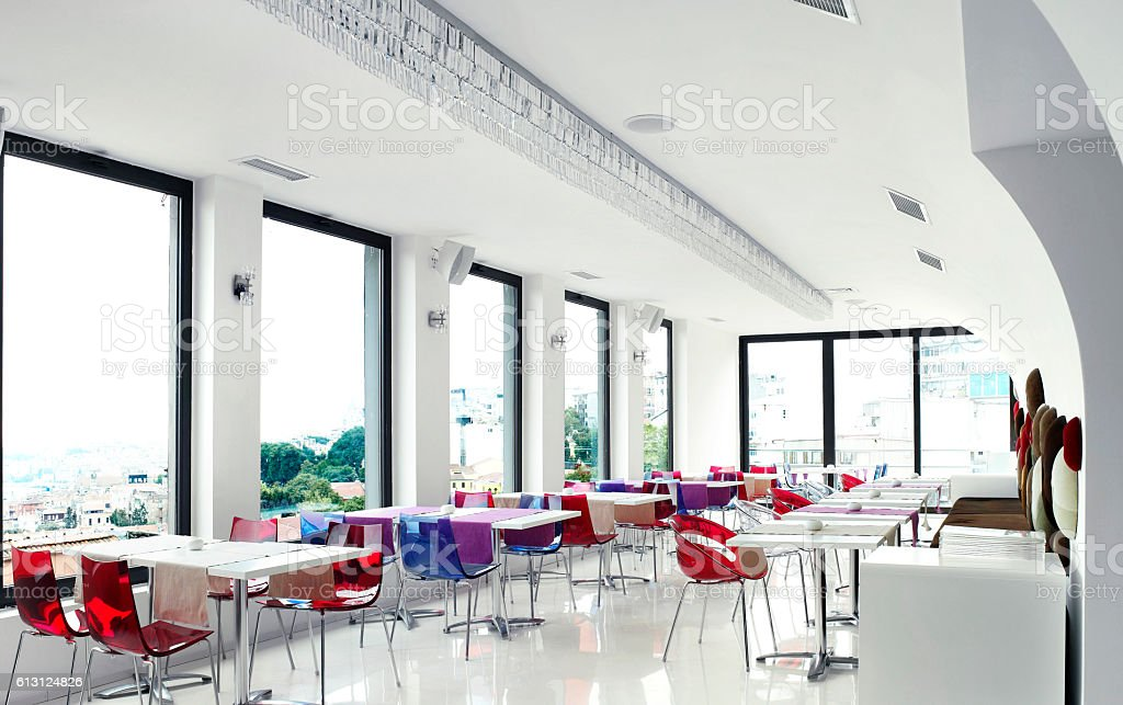 Empty Restaurant stock photo