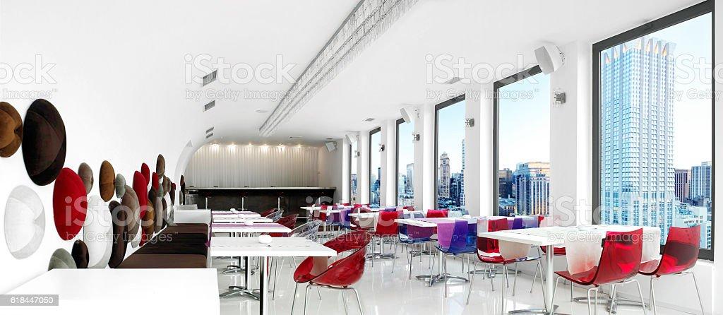 Empty Restaurant stock photo