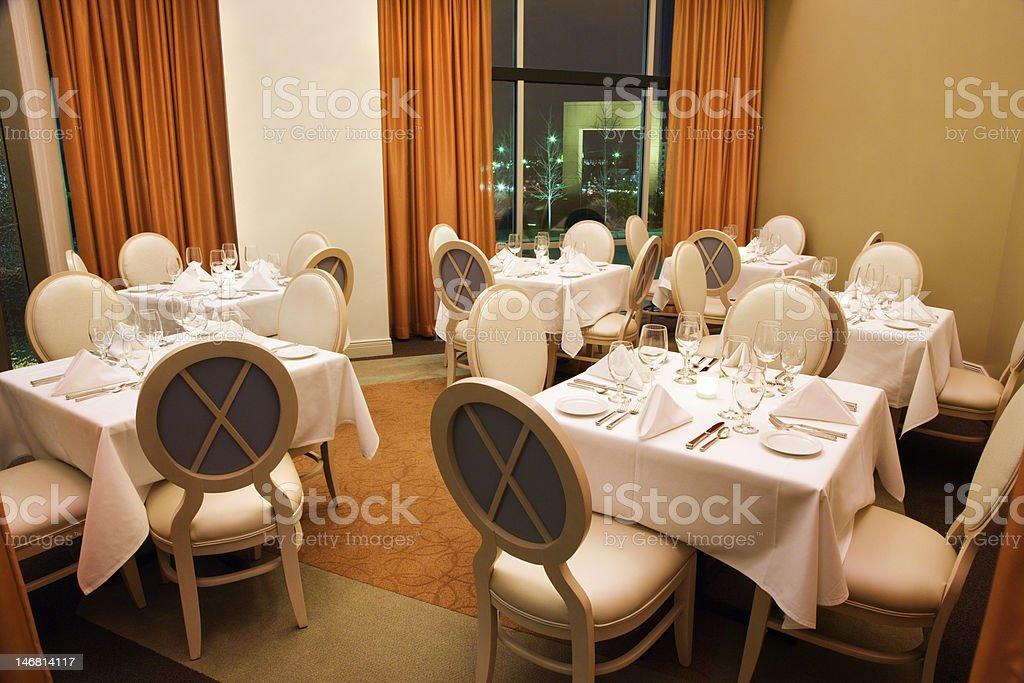 Empty Restaurant Seating royalty-free stock photo