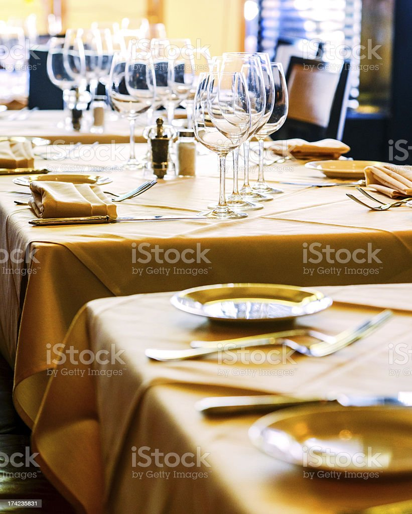 Empty Restaurants waiting for Customers royalty-free stock photo