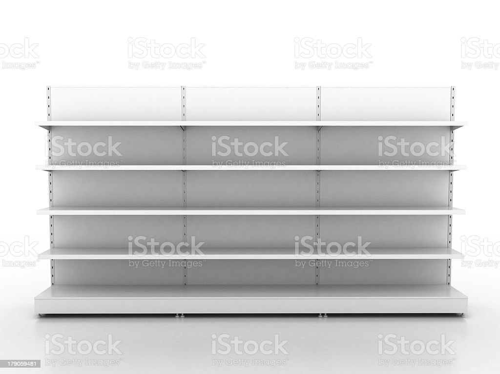 empty retail shelves stock photo
