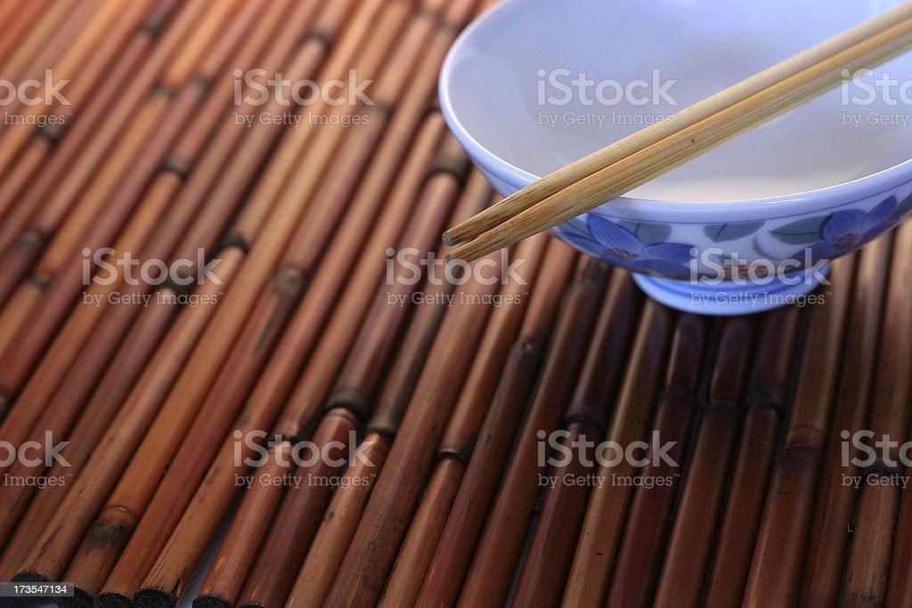 Empty Rice Bowl stock photo