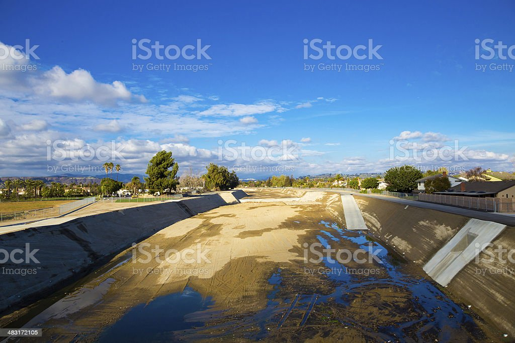 Empty River Southern California Drought stock photo