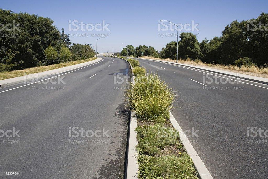 Empty Road Centerline royalty-free stock photo