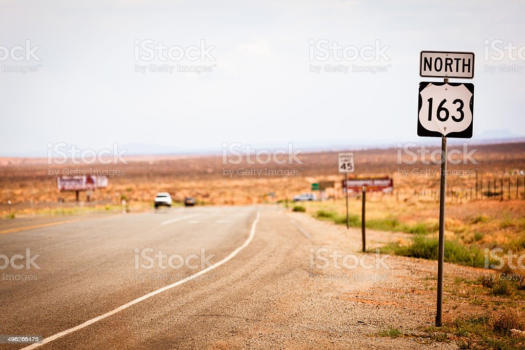 Empty Road in Arizona, USA royalty-free stock photo
