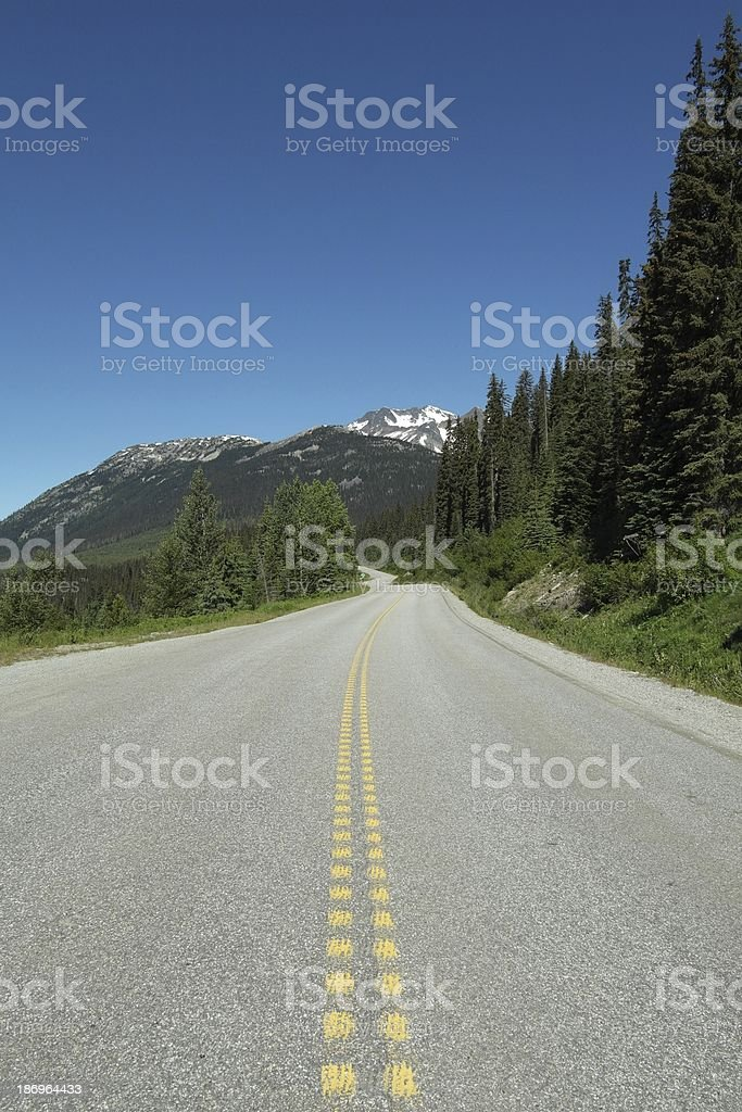 Empty road in Canada stock photo