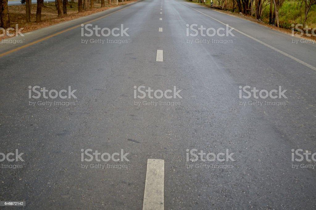 empty road in thailand stock photo
