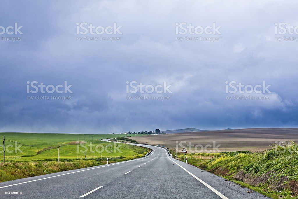Empty Road in the Countryside royalty-free stock photo