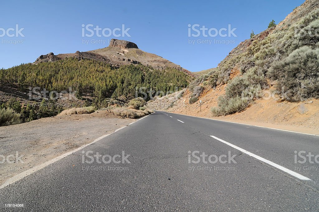Empty Road in the Mountains royalty-free stock photo