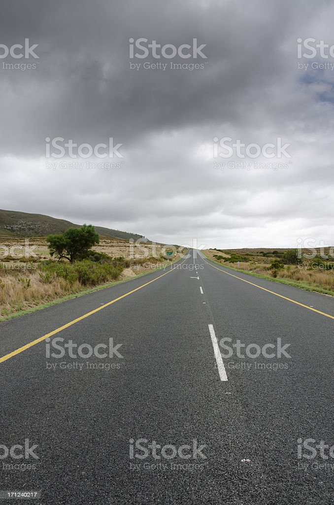 Empty road in Western Cape royalty-free stock photo