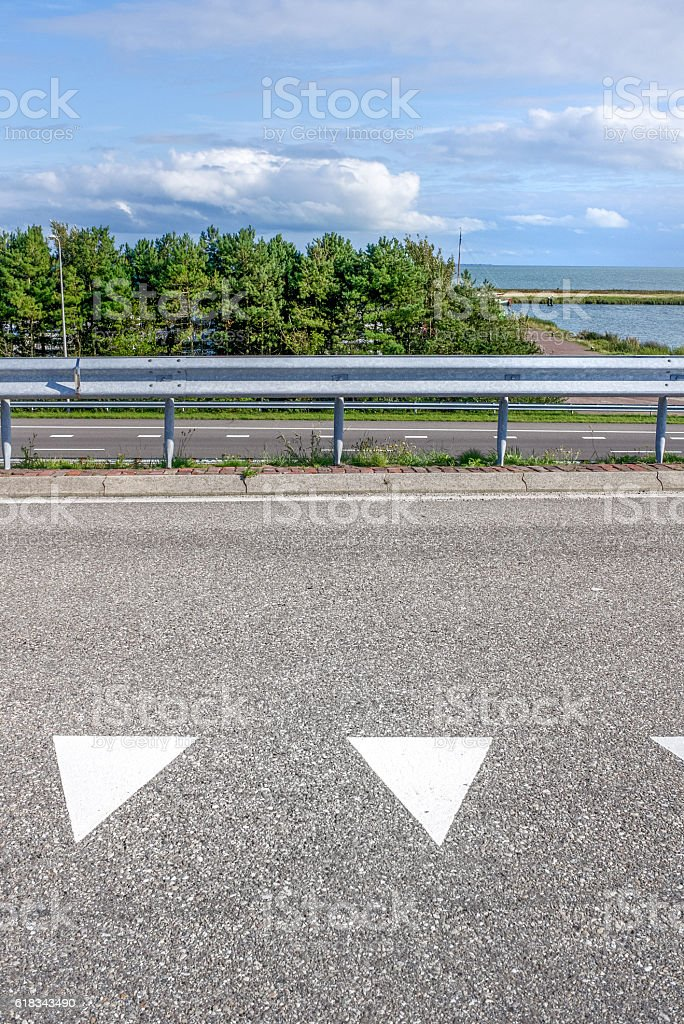 empty road intersection stock photo