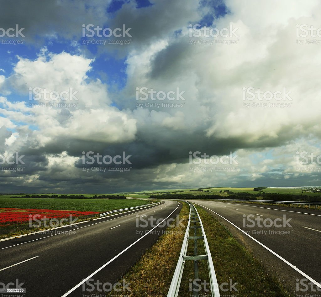 Empty road landscape royalty-free stock photo