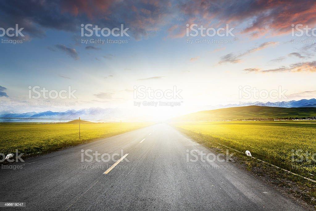 Empty Road stock photo