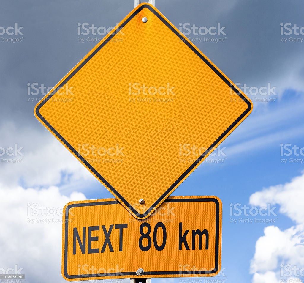 Empty road sign for your message royalty-free stock photo