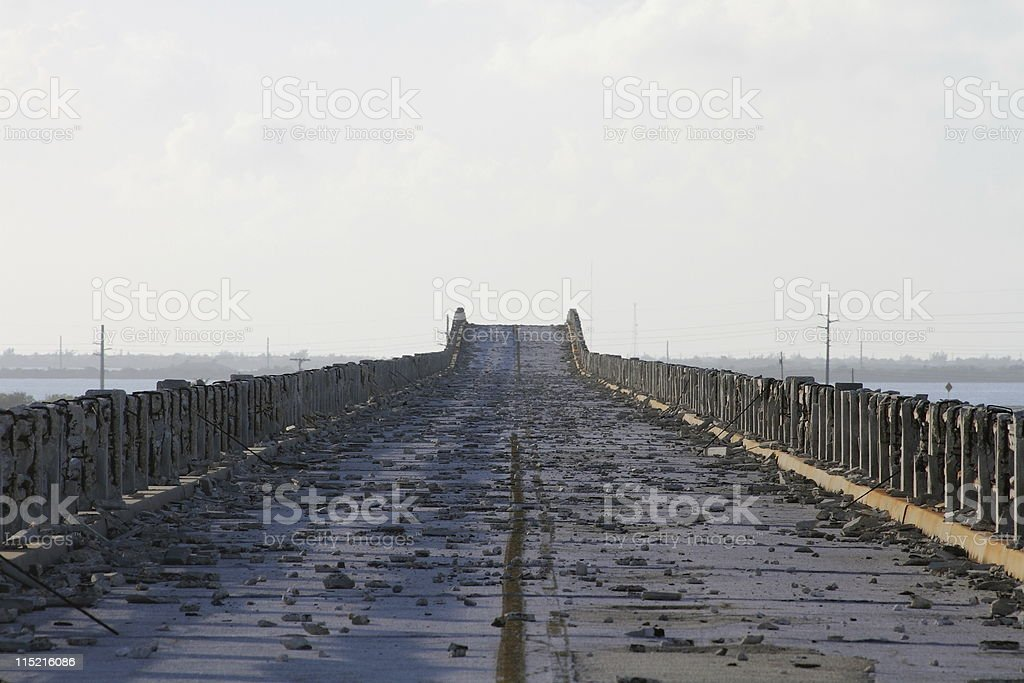 Empty Road to Nowhere royalty-free stock photo