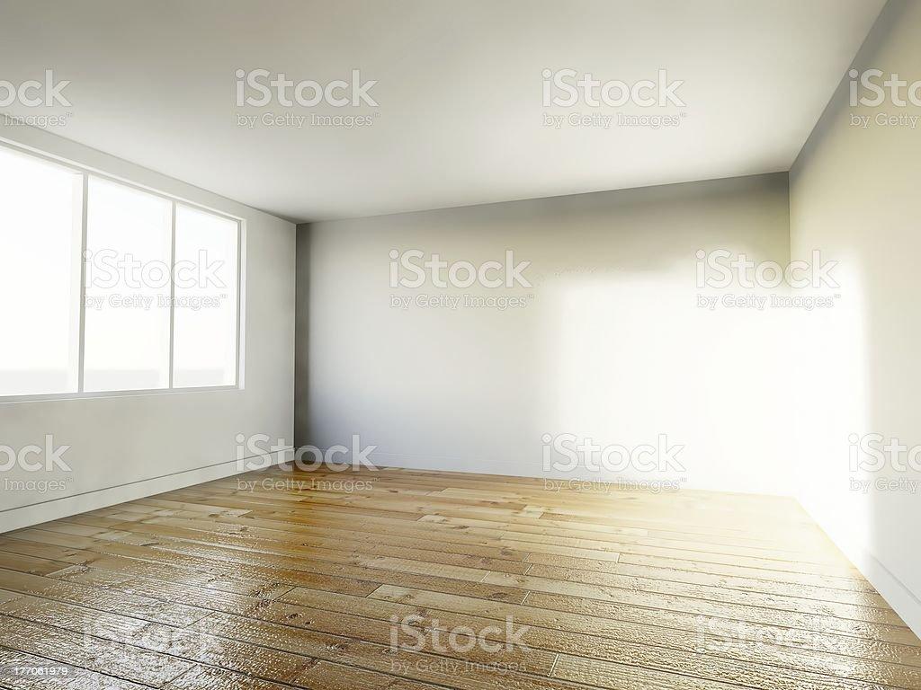 Empty room, 3d house interior royalty-free stock photo