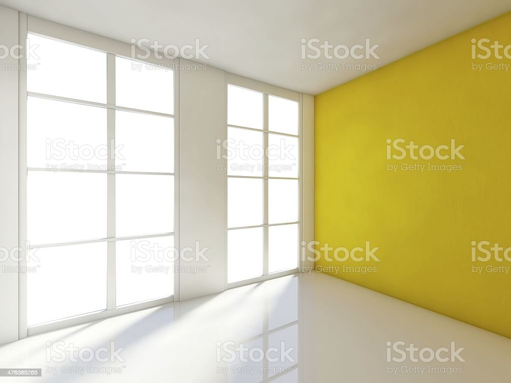 Empty room, 3d house interior royalty-free stock photo