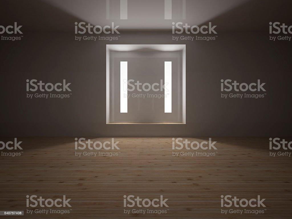 Empty room, 3D render stock photo