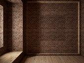 Empty room, 3D render