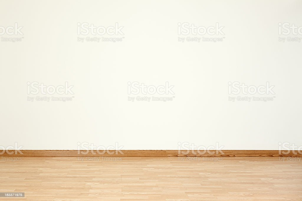 Empty Room and Blank Wall stock photo
