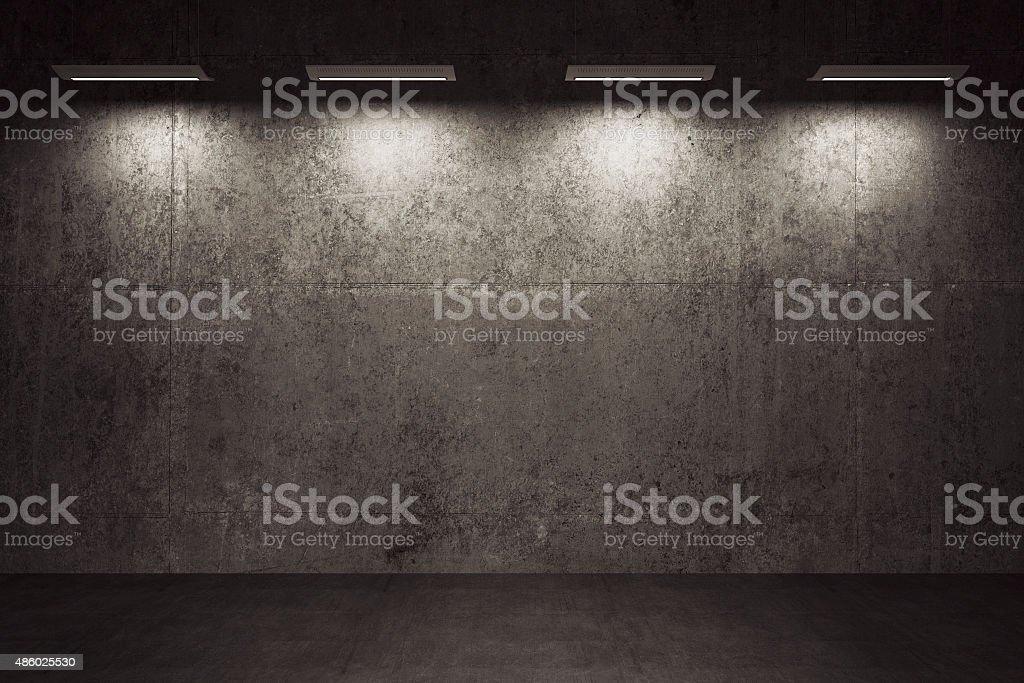 Empty room, concrete walls and floor stock photo