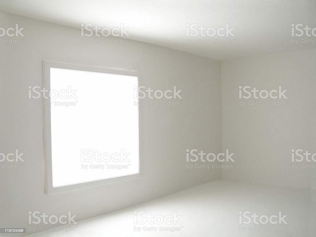 Empty Room Filled with Light royalty-free stock photo