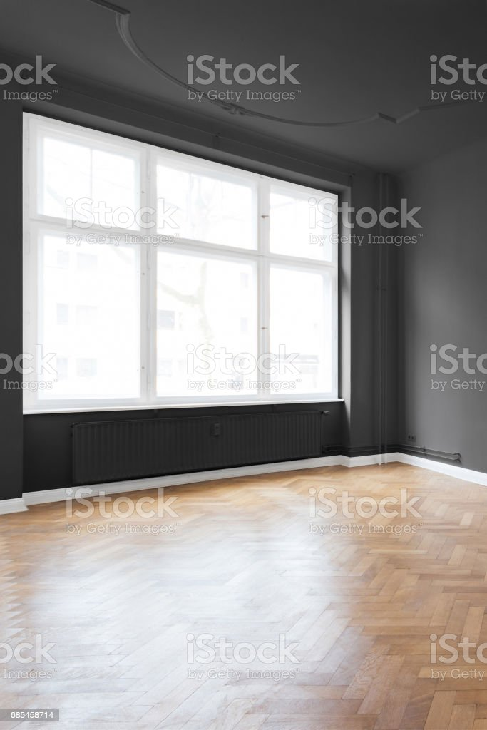 Empty room in beautiful apartment stock photo