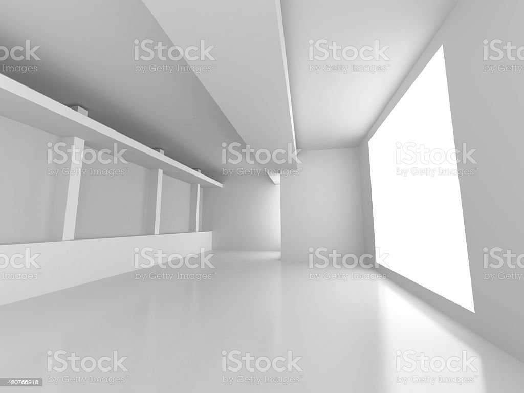 Empty Room Interior Architecture Abstract Background stock photo