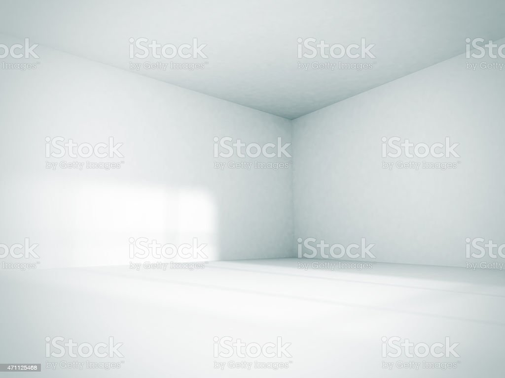 Empty Room Interior White Background stock photo