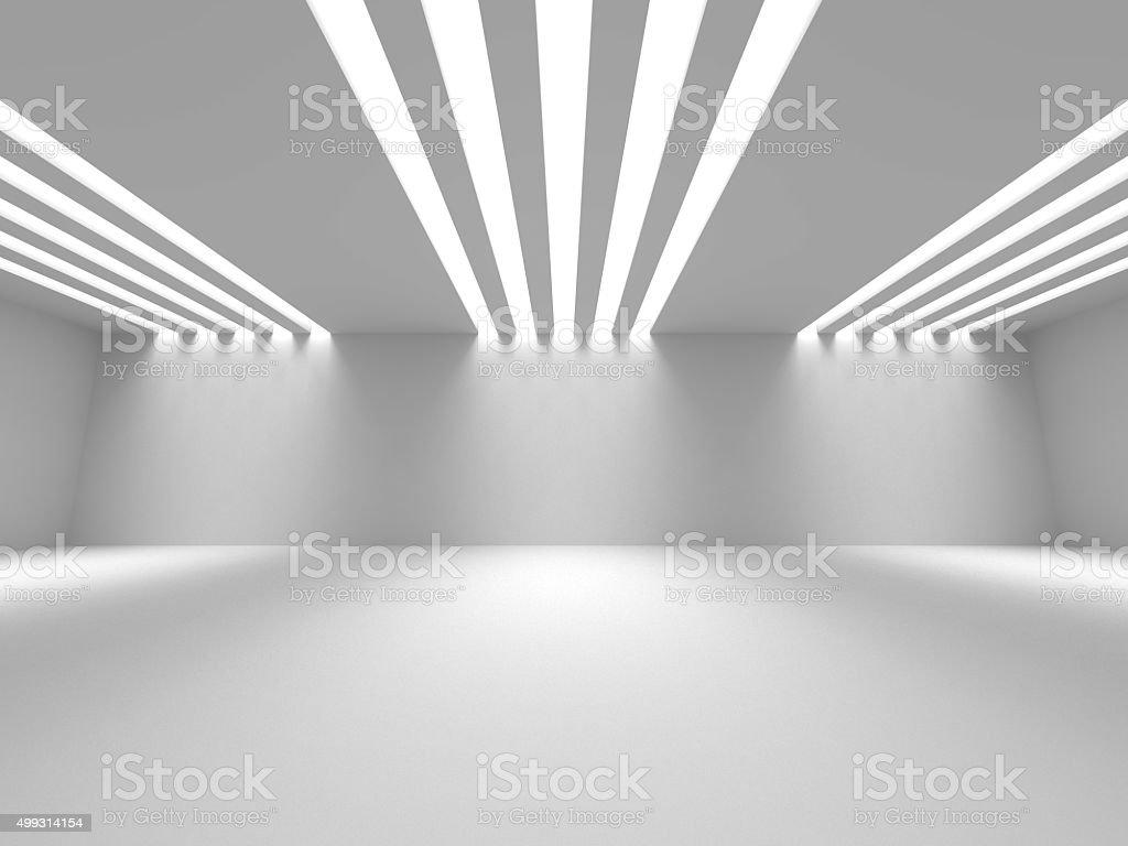 Empty Room Interior White Background stock photo