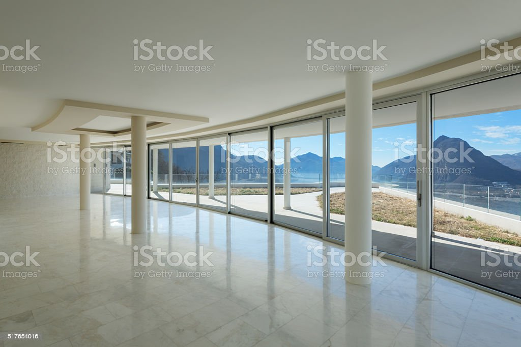 empty room of a modern penthouse stock photo