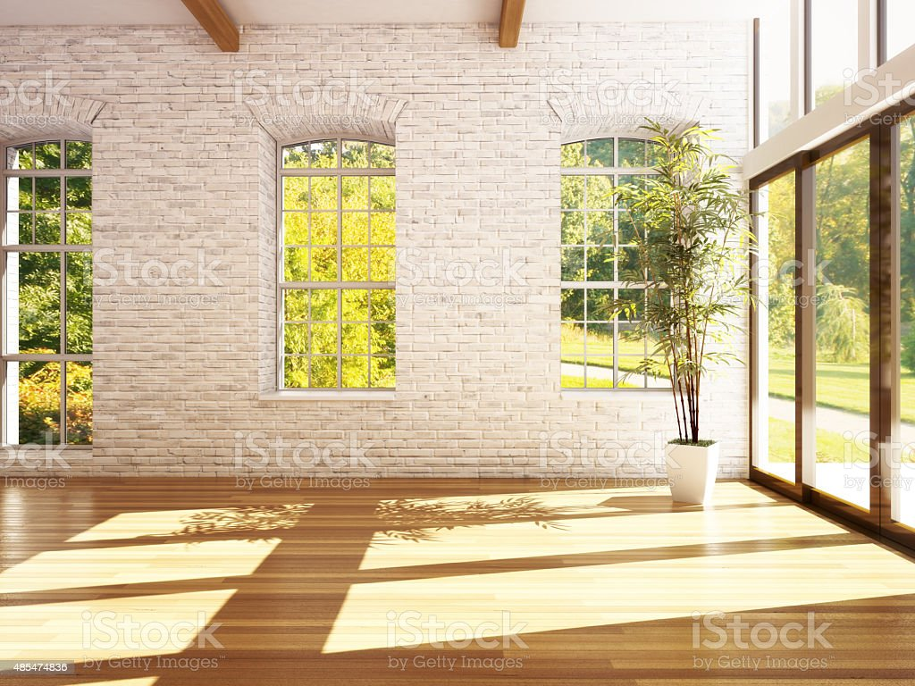 Empty room of business, or residence stock photo
