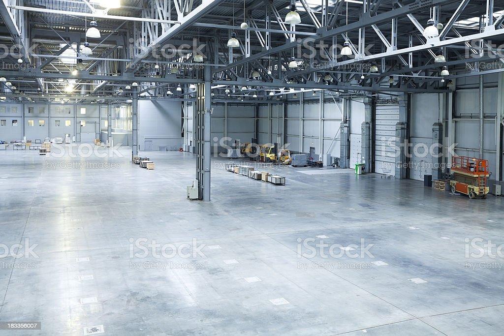 empty room of modern storehous royalty-free stock photo