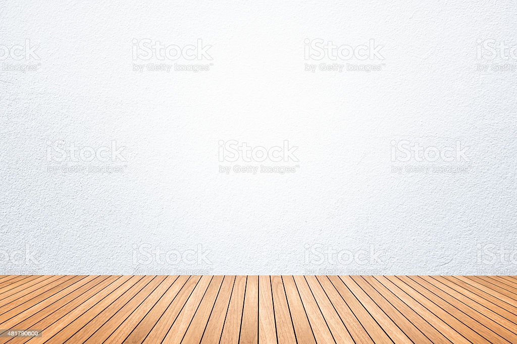 empty room of white wall and wood floor stock photo 481790600 istock. Black Bedroom Furniture Sets. Home Design Ideas