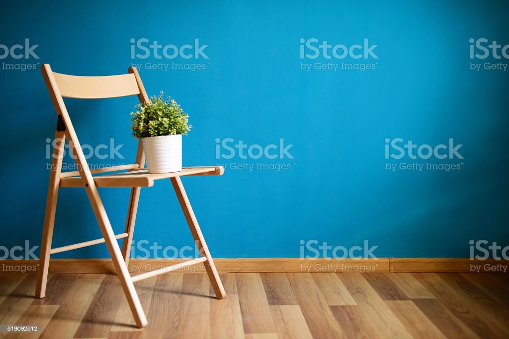 empty room, relocation and repair. stock photo