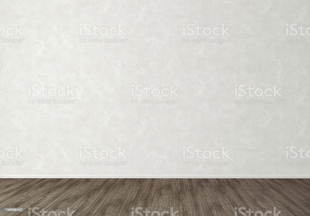 Empty Room White Wall Background stock photo