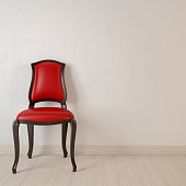 Empty room with chair. 3d rendering.