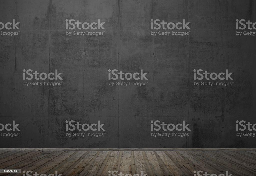 Empty room with dark wall stock photo