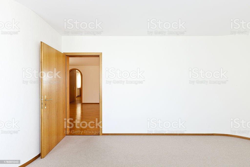 empty room with door open royalty-free stock photo