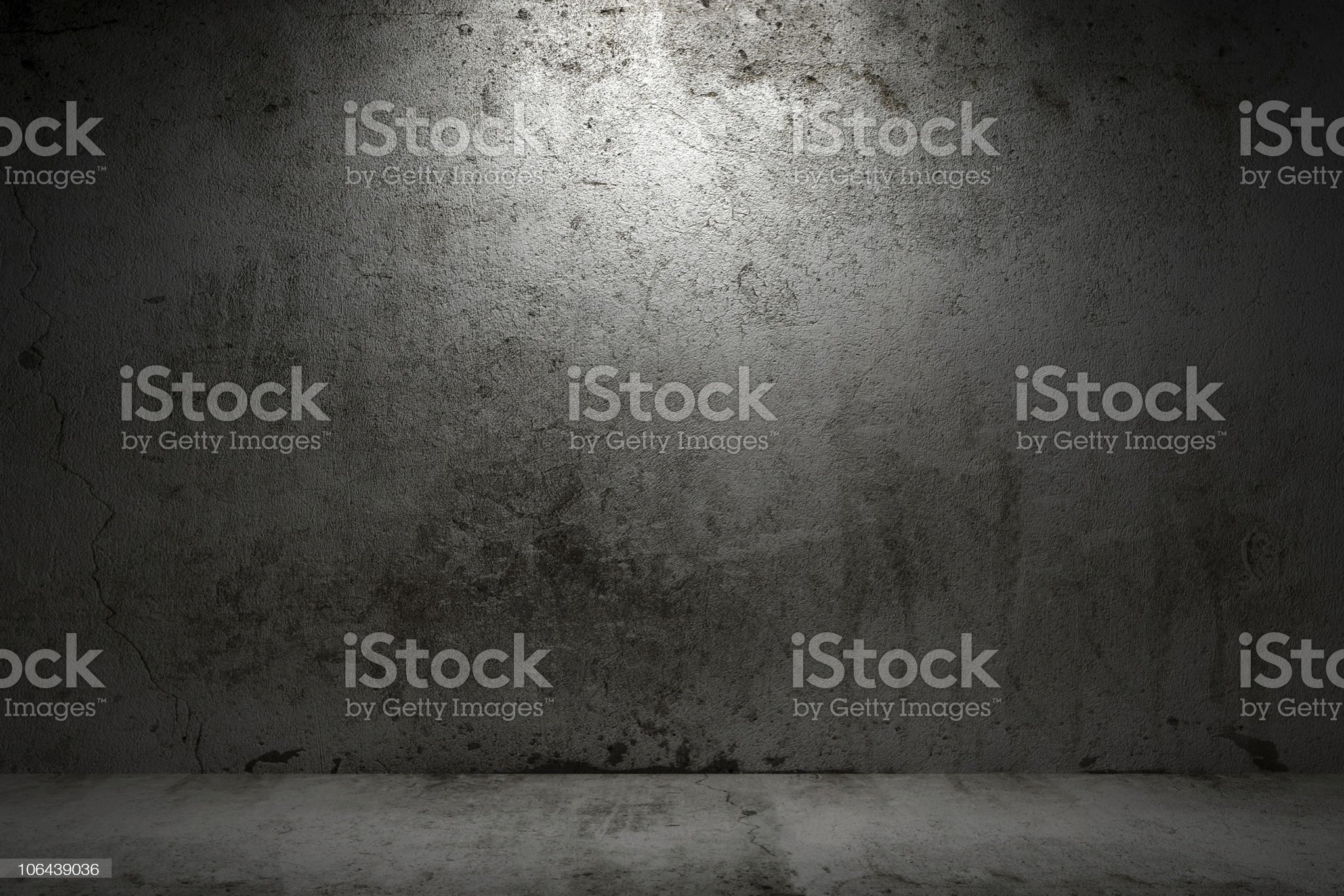 empty room with grunge concrete wall and cement floor royalty-free stock photo